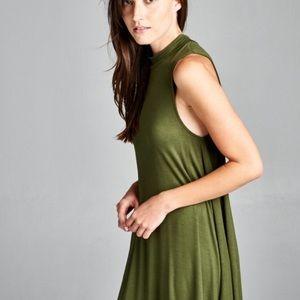 Dresses & Skirts - Olive sleveless dress
